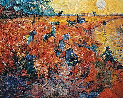 Red Vineyards at Arles, 1888 | Vincent van Gogh | Painting Reproduction