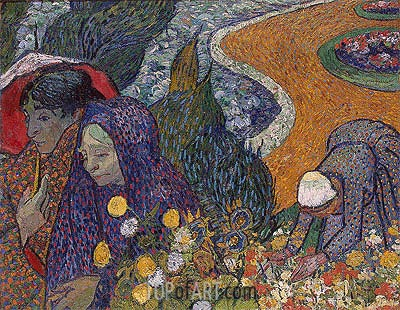 Memory of the Garden at Etten (Women of Arles), 1888 | Vincent van Gogh | Painting Reproduction