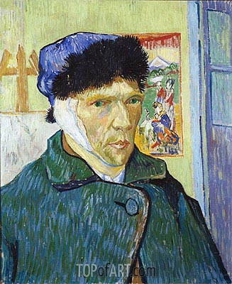 Self-Portrait with Bandaged Ear, 1889 | Vincent van Gogh | Painting Reproduction