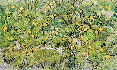 A Field of Yellow Flowers, 1889 | Vincent van Gogh | Painting Reproduction