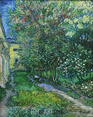 The Garden of the Asylum at Saint-Remy, May 1889 | Vincent van Gogh | Gemälde Reproduktion