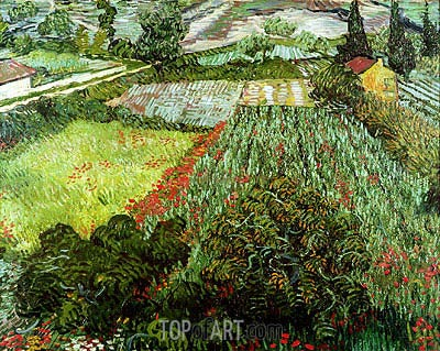 Field with Poppies, 1889 | Vincent van Gogh | Gemälde Reproduktion