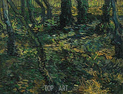 Undergrowth with Ivy, 1889 | Vincent van Gogh | Gemälde Reproduktion