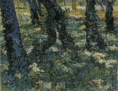 Undergrowth, 1889 | Vincent van Gogh | Painting Reproduction