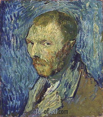 Self Portrait, 1889 | Vincent van Gogh | Painting Reproduction
