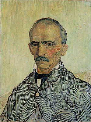 Portrait of Superintendant Trabuc in St. Paul's Hospital, 1889 | Vincent van Gogh | Painting Reproduction