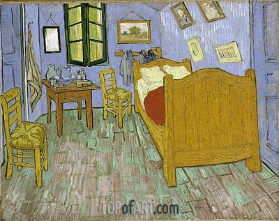 Vincent's Bedroom in Arles, 1889 | Vincent van Gogh | Gemälde Reproduktion