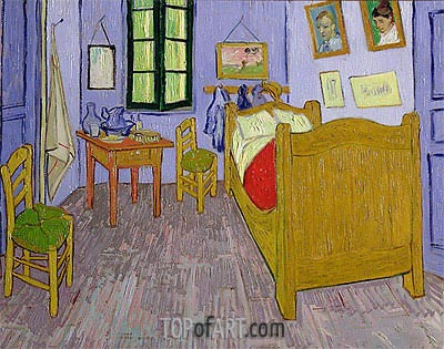 Van Gogh's Bedroom at Arles, 1889 | Vincent van Gogh | Painting Reproduction
