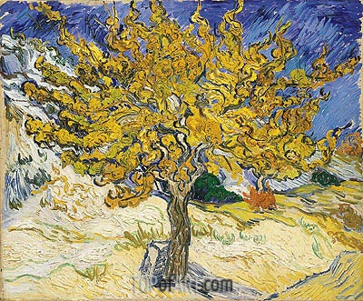The Mulberry Tree, 1889 | Vincent van Gogh | Gemälde Reproduktion