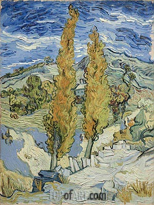 The Poplars at Saint-Remy, 1889 | Vincent van Gogh | Gemälde Reproduktion