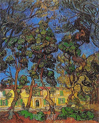 Trees in the Garden of Saint-Paul Hospital, 1889 | Vincent van Gogh | Painting Reproduction