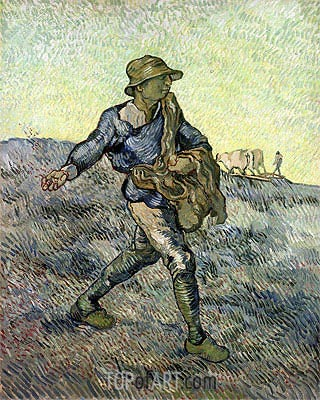 The Sower (after Millet), 1889 | Vincent van Gogh | Gemälde Reproduktion