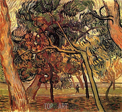 Study of Pine Trees, 1889 | Vincent van Gogh | Painting Reproduction