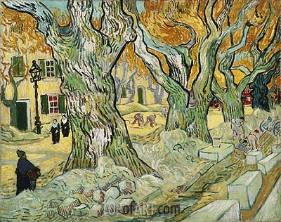 The Road Menders, 1889 | Vincent van Gogh | Painting Reproduction