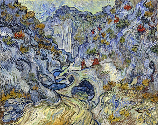 The Ravine (Les Peiroulets), 1889 | Vincent van Gogh | Painting Reproduction