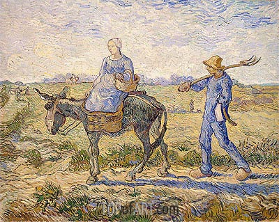 Morning: Going out to Work (After Millet)  , 1890 | Vincent van Gogh | Gemälde Reproduktion