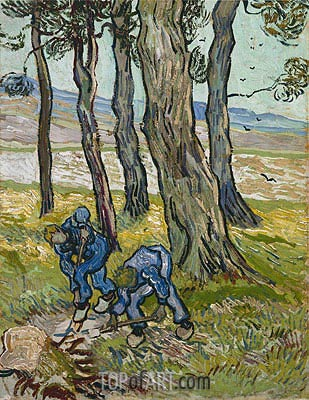 The Diggers (Les Becheurs), 1889 | Vincent van Gogh | Painting Reproduction