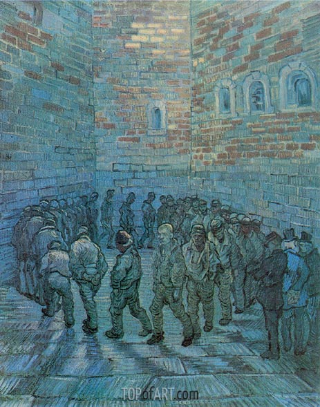 Prisoners Exercising (after Dore), 1890 | Vincent van Gogh | Painting Reproduction