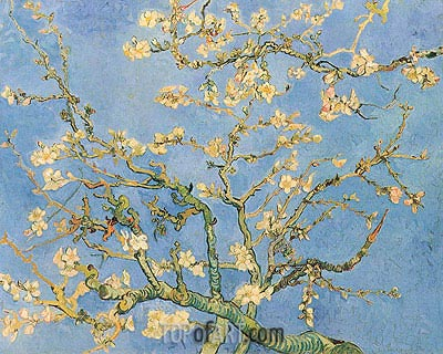 Blossoming Almond Tree, 1890 | Vincent van Gogh | Painting Reproduction