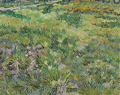 Meadow in the Garden of Saint-Paul Hospital, 1890 | Vincent van Gogh | Gemälde Reproduktion
