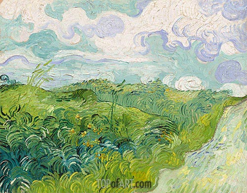 Green Wheat Fields, May 1890 | Vincent van Gogh | Gemälde Reproduktion