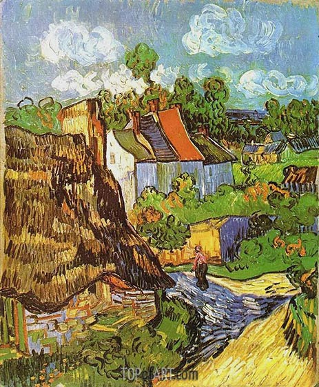 House in Auvers, May 1890 | Vincent van Gogh | Gemälde Reproduktion