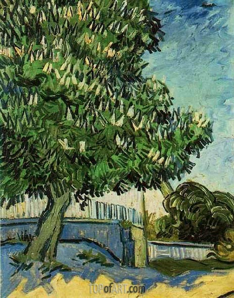 Chestnut Tree in Blossom, 1890 | Vincent van Gogh | Painting Reproduction