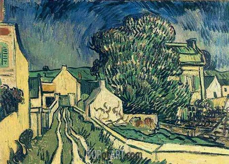 The House of Pere Pilon, 1890 | Vincent van Gogh | Painting Reproduction