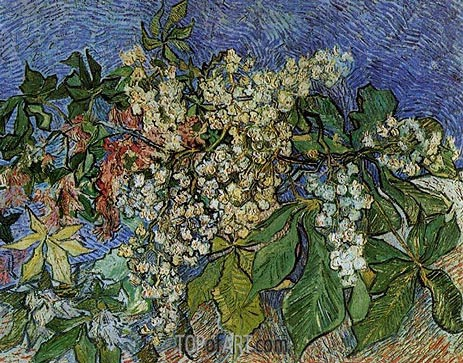 Blossoming Chestnut Branches, 1890 | Vincent van Gogh | Gemälde Reproduktion