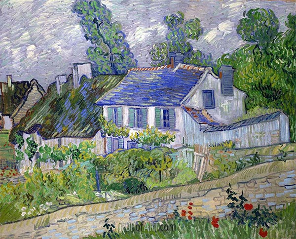 House in Auvers, 1890 | Vincent van Gogh | Painting Reproduction