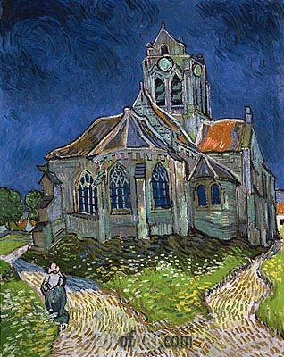The Church at Auvers-sur-Oise, 1890 | Vincent van Gogh | Gemälde Reproduktion