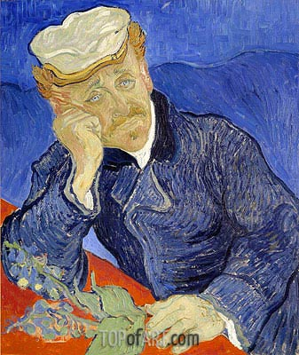 Portrait of Doctor Gachet, 1890 | Vincent van Gogh | Gemälde Reproduktion