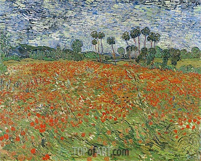 Field with Poppies, 1890 | Vincent van Gogh | Gemälde Reproduktion