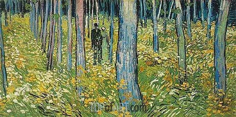 Undergrowth with Two Figures, 1890 | Vincent van Gogh | Gemälde Reproduktion