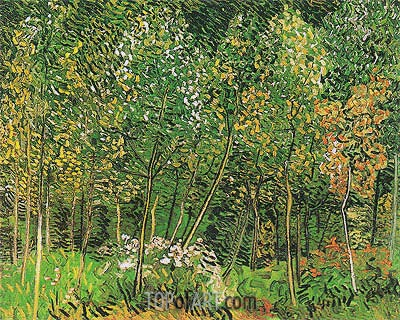 The Grove, July 1890 | Vincent van Gogh | Painting Reproduction