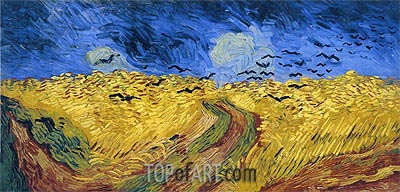 Wheat Field with Crows, 1890 | Vincent van Gogh | Painting Reproduction