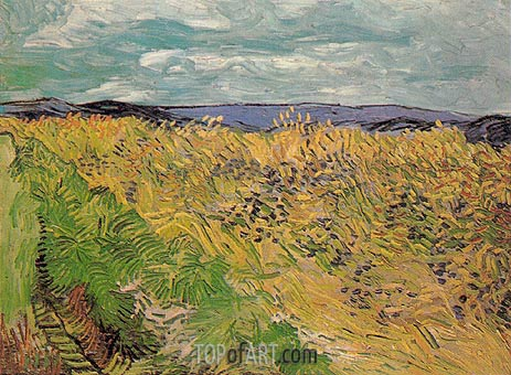 Wheat Field with Cornflowers, July 1890 | Vincent van Gogh | Gemälde Reproduktion