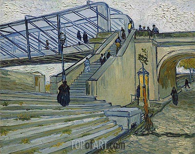 The Trinquetaille Bridge, 1888 | Vincent van Gogh | Painting Reproduction