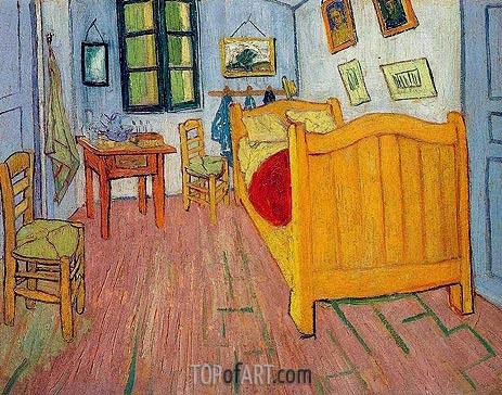 Vincent's Bedroom in Arles, 1888 | Vincent van Gogh | Painting Reproduction