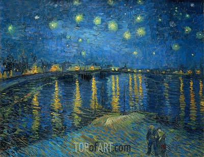 Starry Night over the Rhone, 1888 | Vincent van Gogh | Painting Reproduction