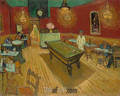 The Night Cafe in the Place Lamartine in Arles, 1888 | Vincent van Gogh | Gemälde Reproduktion