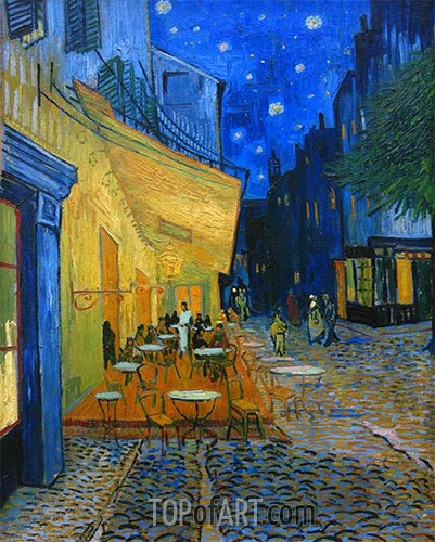 The Cafe Terrace on the Place du Forum, Arles, 1888 | Vincent van Gogh | Painting Reproduction
