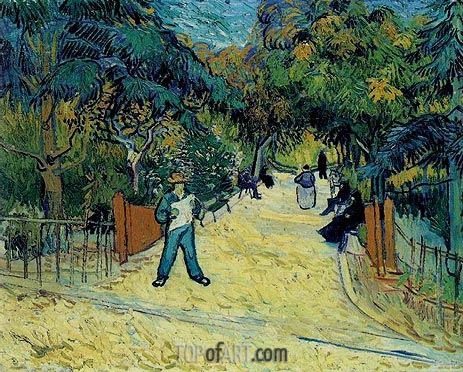 Entrance to the Public Garden in Arles, 1888 | Vincent van Gogh | Painting Reproduction