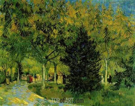 A Lane in the Public Garden at Arles, 1888 | Vincent van Gogh | Gemälde Reproduktion