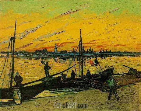 Coal Barges, August 188 | Vincent van Gogh | Gemälde Reproduktion