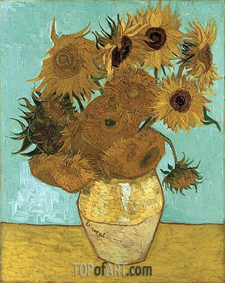 Still Life - Vase with Twelve Sunflowers, 1888 | Vincent van Gogh | Painting Reproduction