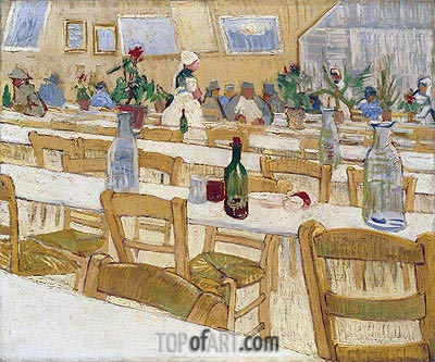 Interior of the Restaurant Carrel in Arles, 1887 | Vincent van Gogh | Painting Reproduction