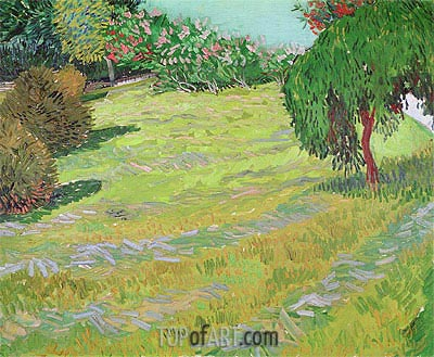 Sunny Lawn in a Public Park, 1888 | Vincent van Gogh | Painting Reproduction