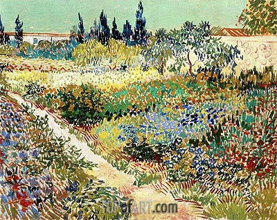 Flowering Garden with Path, 1888 | Vincent van Gogh | Painting Reproduction
