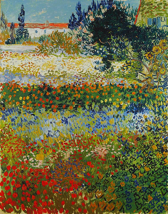 Flowering Garden, 1888 | Vincent van Gogh | Painting Reproduction